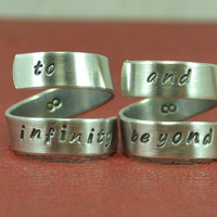 To Infinity and Beyond Ring Set, Couples Rings, Friendship Rings