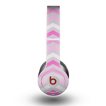 The Wide Pink Vintage Colored Chevron Pattern V6 Skin for the Beats by Dre Original Solo-Solo HD Headphones