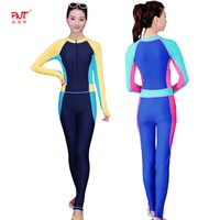 PNT070 New Scuba Diving Suit For Women Swimsuit High Quality Cover Up Zipper Retro Bodysuit Swim Wear Girls Sports Suit