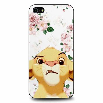 Floral Simba iPhone 5/5s/SE Case