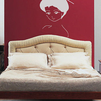 WALL VINYL STICKER DECALS ART MURAL Anime Japanese Girl Geisha A1537