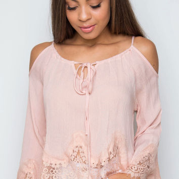 Kalina Boho Top - Blush