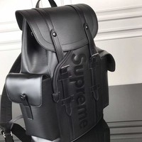 cc spbest LV x Supreme Backpack black