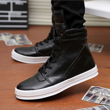 Men Leather Boots Cool Shoes