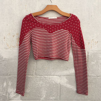 Stars and Stripes Crop Top - Red