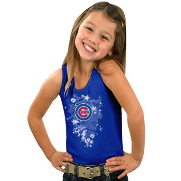 Chicago Cubs Youth Girls Out of this World Tank Top - Royal Blue - http://www.shareasale.com/m-pr.cfm?merchantID=7124&userID=1042934&productID=525381493 / Chicago Cubs