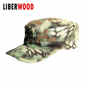 Men Fatigue jungle camo Cap Hat USA Army Force Camouflage army Police Security Law Enforcement Patrol Hat Caps black Flat top