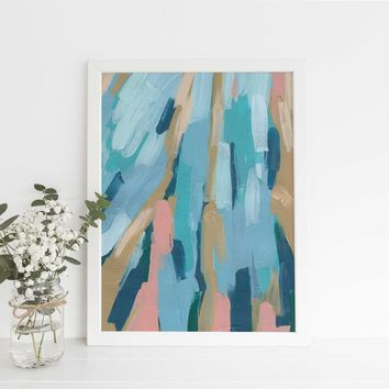 Underwater Contemporary Abstract Ocean Painting Wall Art Print