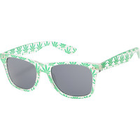 Vice Clear & Green Weed Print Sunglasses at Zumiez : PDP