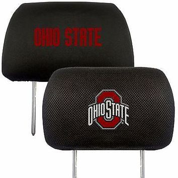 Ohio State Buckeyes 2-Pack Auto Car Truck Embroidered Headrest Covers