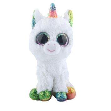 Ty Beanie Boos Stuffed & Plush Animals Colorful Cute White Unicorn Toy Doll (FREE SHIPPING TO USA)