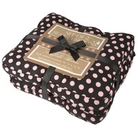 Seat Cushions 16 x 16 with Chair Ties (Set of 2) 16 x 16 (Black and Pink)