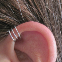 No Piercing Triple Up Ear Cuff for Upper Ear by ArianrhodWolfchild
