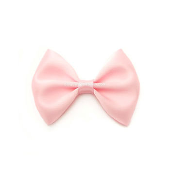 Pink Satin Bow, Classic Hair Bow, Toddler, GIrl, Infant Hairbows, 3 Inch Bow, Skinny Elastic Headband, Women, Handmade