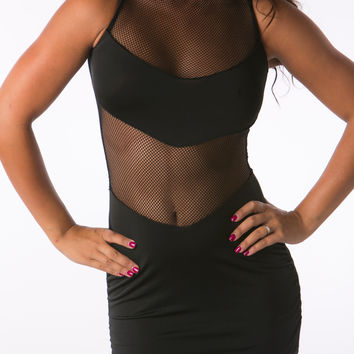 Mesh black sexy tight dresses