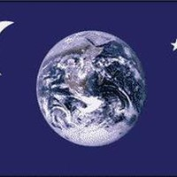 NEW EARTH MOON STARS  3 X 5 FLAG 3x5 decor banner wall #521 SIGN hippie astronoy