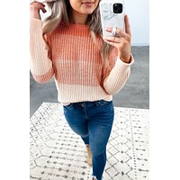 Ombre Beauty Sweater- Coral/Pink