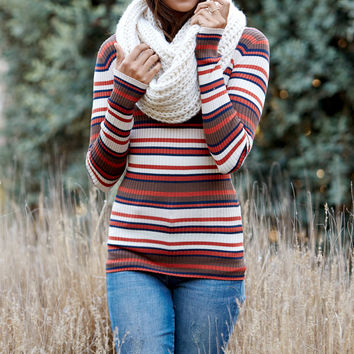 Say What Stripe Crew Neck Pullover Sweater at PacSun.com