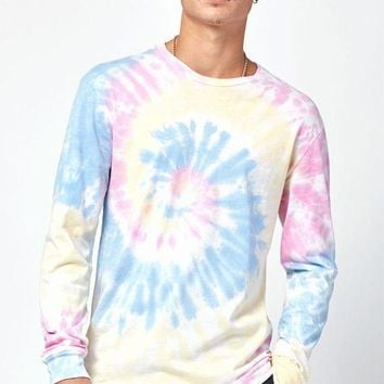 CREYON PacSun Wilde Tie-Dyed Long Sleeve Relaxed T-Shirt