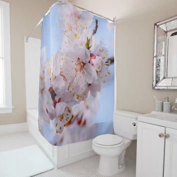 Japanese Apricot Blossom Shower Curtain
