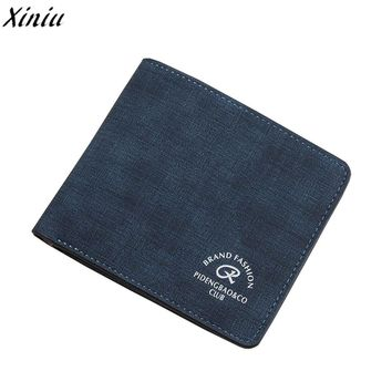 Man Wallet Concise Leather Money Bag Business Purse Card Holder Carteira Masculina Card Holder #9905