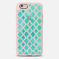 Mint Green Watercolor Diamond Pattern - transparent iPhone 6s case by Micklyn Le Feuvre | Casetify
