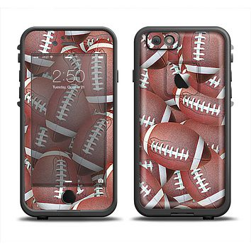 The Football Overlay Apple iPhone 6/6s LifeProof Fre Case Skin Set