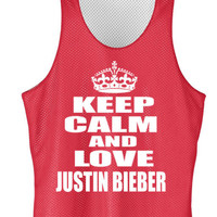 Keep calm and love Justin Bieber mesh jersey
