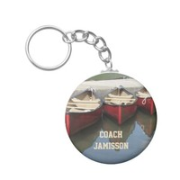 Red Canoes Coach Personalized Keychain (Key Chain)