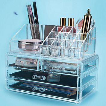 All in one Acrylic make up organizer