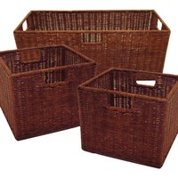 Winsome Wood Winsome Wood Attractive Leo Wired Baskets (Set of 3)