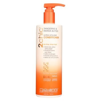 Giovanni Hair Care Products 2chic Conditioner - Ultra-Volume Tangerine and Papaya Butter - 24 fl oz