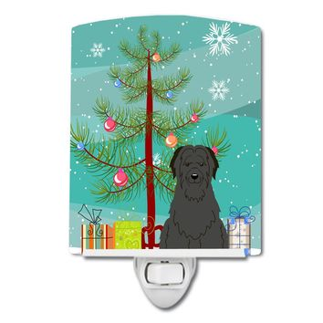 Merry Christmas Tree Briard Black Ceramic Night Light BB4206CNL