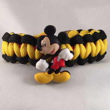 Mickey Mouse Hip-Hooray - Children Paracord Heaven Survival Bracelet with Button Closure