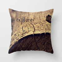 Explore Throw Pillow by LJehle