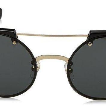 ICIK4S2 Versace Women's Studded Brow Bar Sunglasses