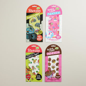 Scratch and Sniff Stickers, Set of 4 - World Market