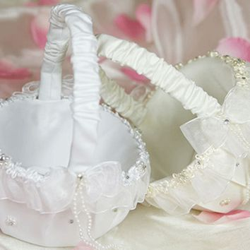 Organza Flower Girl Basket