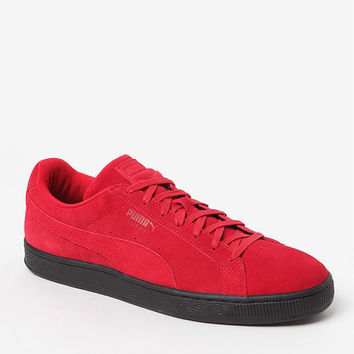 Puma Suede Black Sole Red Shoes at PacSun.com