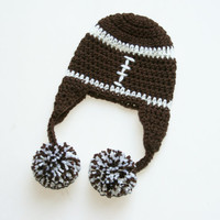 Baby Football hat Newborn 0-3 months. Custom colors available.