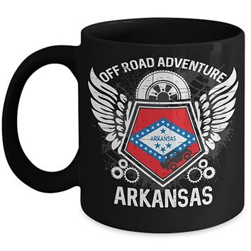 Arkansas Off Road Adventure 11oz Black Coffee Mug 4x4 Trails Riding Mudding Gift Idea