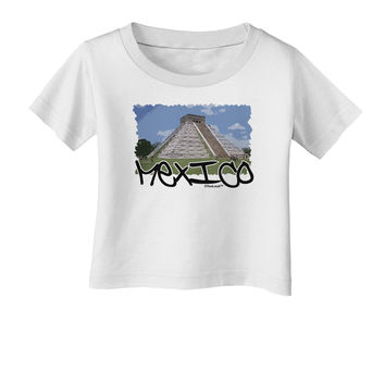 Mexico - Mayan Temple Cut-out Infant T-Shirt