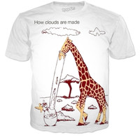 Giraffes make clouds