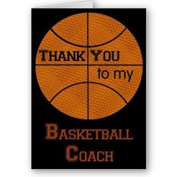 Thank You to my Basketball Coach Card from Zazzle.com