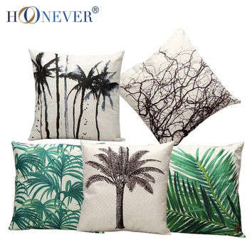 Tropic Tree Cushion Throw Pillow