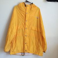 Vintage Polo Sport Ralph Lauren yellow windbreaker/rain jacket