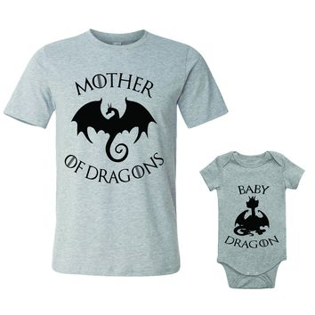 Mother Of Dragons Baby Dragon Matching Set