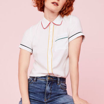 Primary Pick Collared Blouse