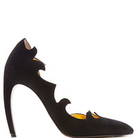 Laser-Cut Suede Pumps by Walter Steiger Now Available on Moda Operandi