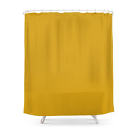 Society6 Mustard Shower Curtain